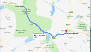 location of Serengeti National park